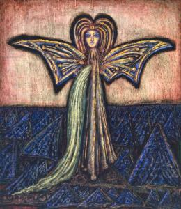 The Angel of the Flowing Light 1968 by Cecil Collins 1908-1989